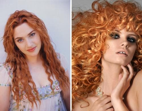 медно рыжий цвет волос с золотистым переливом