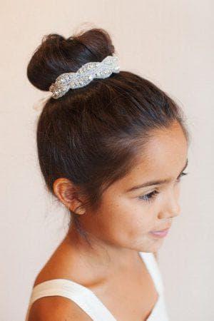 причёска двухъярусная шишка для девочки
