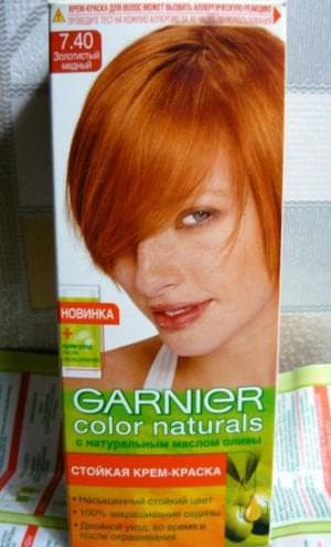 краска для волос Garnier светло рыжий цвет волос