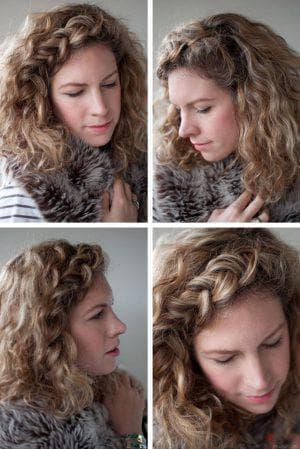 завивка косами на средние волосы