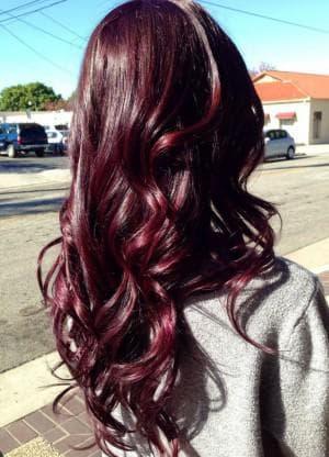 цвет волос махагон кому идет