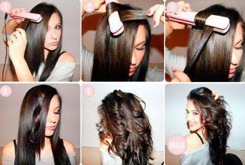 локоны утюжком на средние волосы