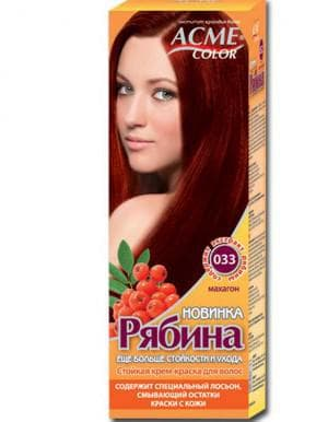 краска для волос Рябина махагон