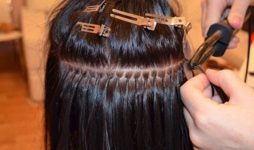 английское горячее наращивание волос