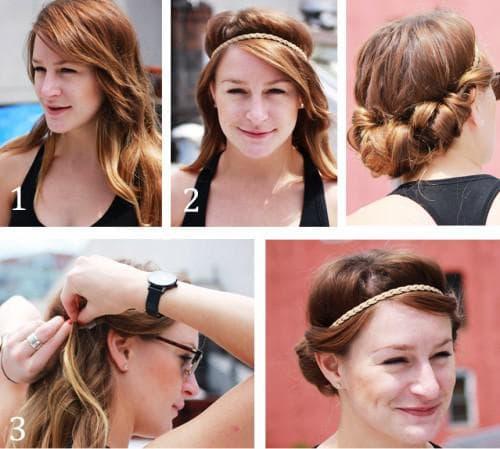 красивая греческая причёска