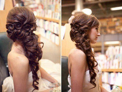 греческая укладка с плетением на прямые средние волосы