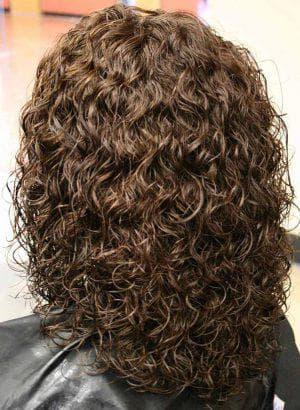 щадящая химическая завивка средних волос