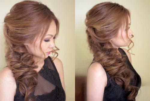 укладка кос на длинные волосы