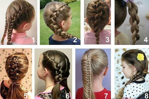 повседневные причёски для девочек