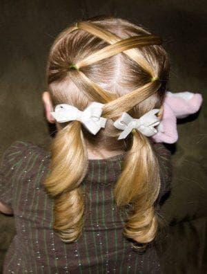 хвост на средние волосы для девочки