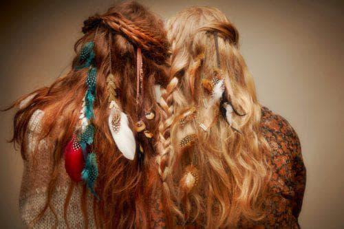 укладка бохо на длинные волосы