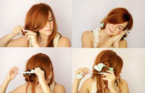 как накрутить волосы с помощью тряпочек