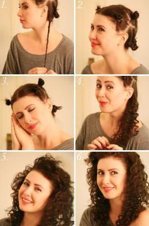 как сделать причёску при помощи бигуди