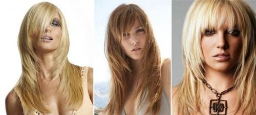 рваная лесенка на длинные волосы