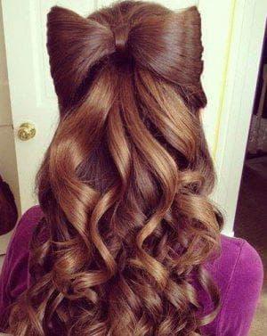 причёска бантна длинные волосы для девочек
