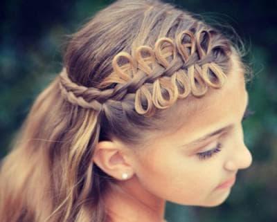 плетение бантиком из волос