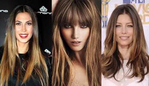 окрашивание волос шатуш на тёмные волосы