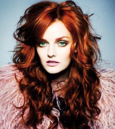 тёмный медно рыжий цвет волос