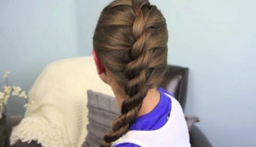 канат из волос на длинные волосы