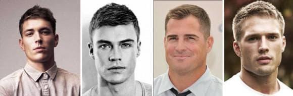 классическая причёска мужчине для квадратного лица