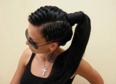 причёска хвост на длинные волосы