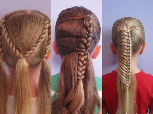 красивые прически для девочек на средние волосы