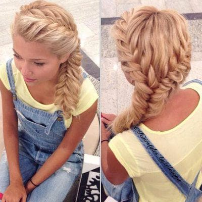 причёска коса длинные волосы для девочек