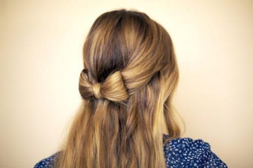 мальвинка бант причёска