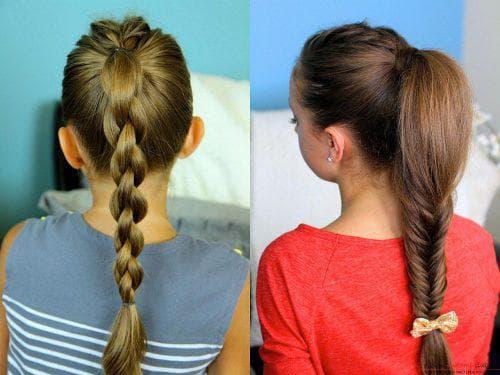красивые традиционные косы для девочек на средние волосы