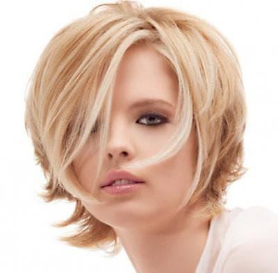 красивый каскад на светлые волосы