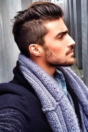 стильная мужская стрижка Undercut