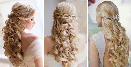 французский водопад с локонами на средние волосы