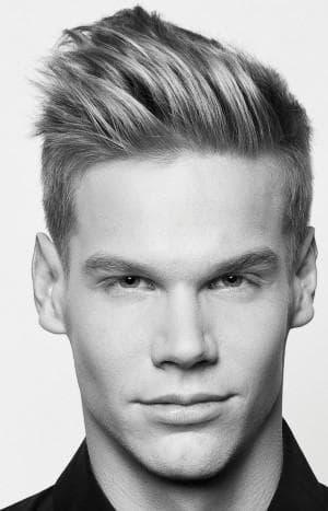 мужская причёска Квифф