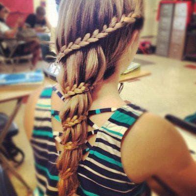 красивые косы разной толщины для девочек на средние волосы