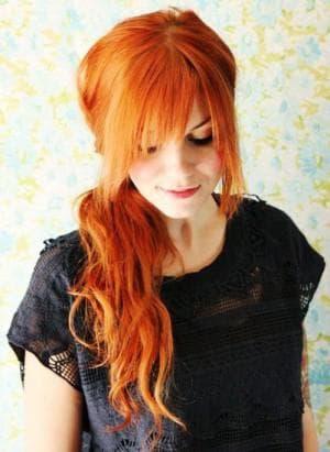 цвет волос рыжий орех