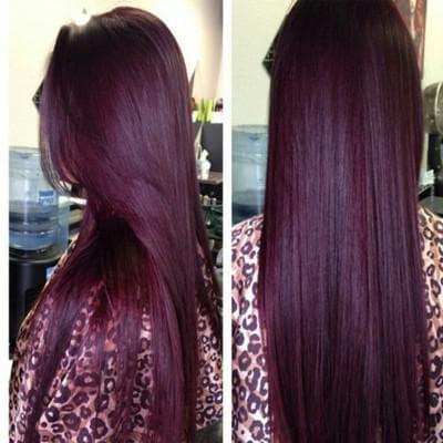 красный винный или бургундский цвет волос
