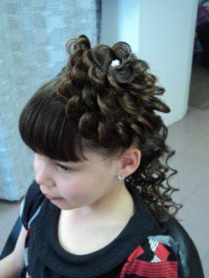 косички миледи для девочек на средние волосы