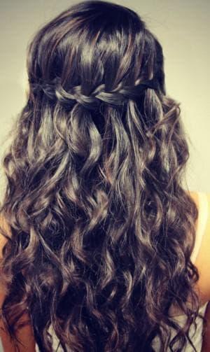 классическая коса водопад