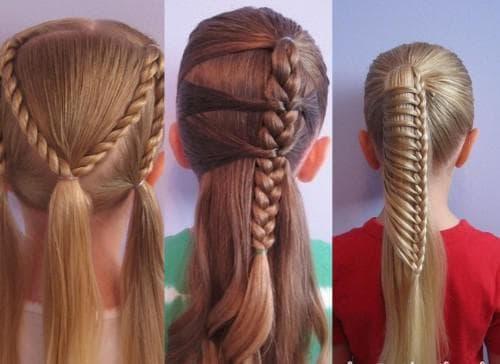 детские косы на длинные волосы