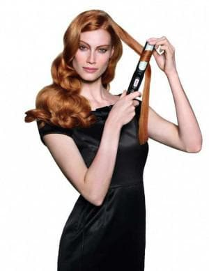 укладка утюжком волос средней длины