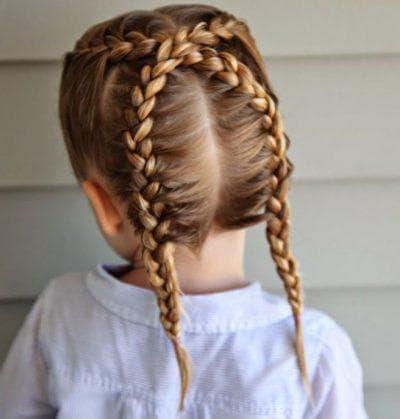 косички кокетка для девочек на средние волосы