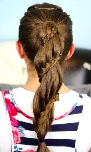 детский хвост на длинные волосы