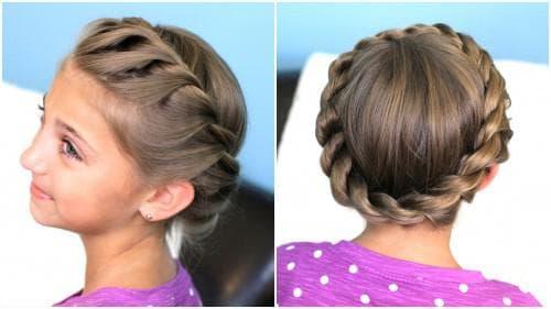 красивые и легкие прически с косами для девочек