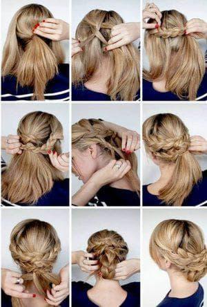греческая на средние волосы для подростков
