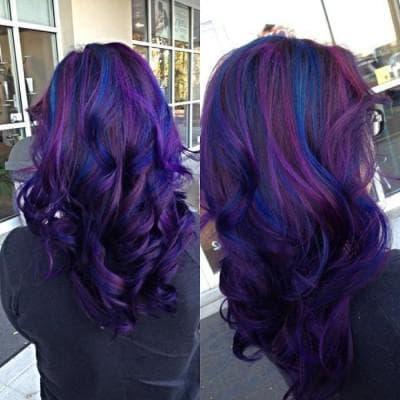 сине-фиолетовый цвет волос