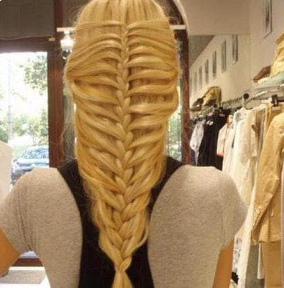 русалочий хвост на средние волосы