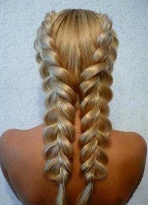 французская коса на средние волосы для подростков
