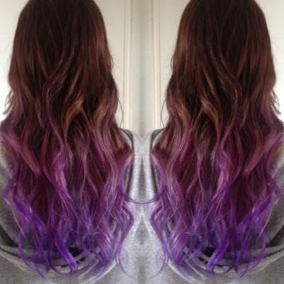 коричнево- фиолетовый цвет волос