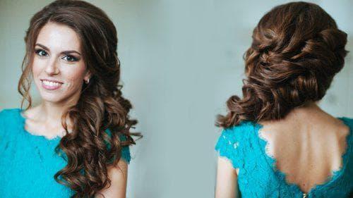 объемные локоны косички на средние волосы
