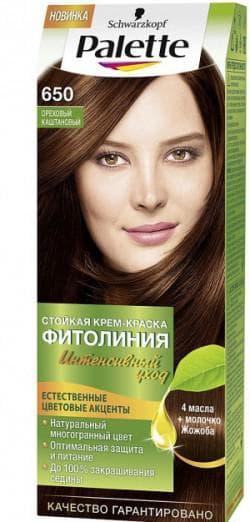 краска для волос орехового цвета Палетт